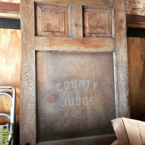 Door from the old courthouse. Can't wait to incorporate in to our house some day.